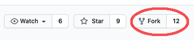 fork button in github